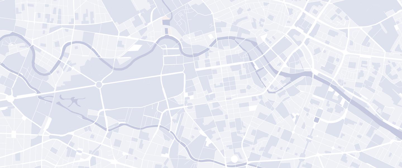 Carte avec les routes et passages
