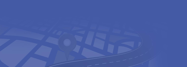 Image de fond avec l'illustration d'une carte avec ses routes
