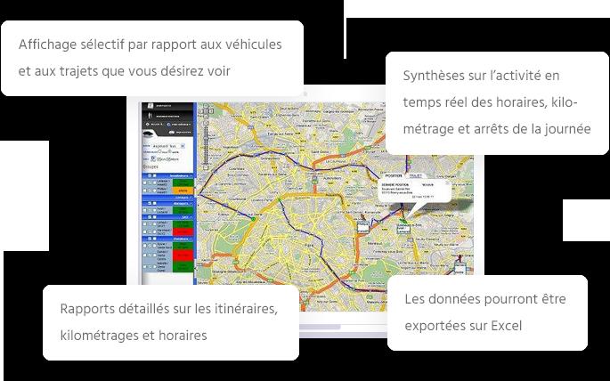 Espace client de l'application de géolocalisation de GeoCoyote